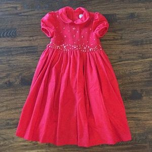 Luli & Me Red Smocked Dress